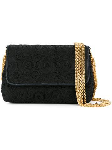 Chanel Vintage Rope Embroidered Bag - Black