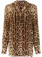 Dolce & Gabbana Leopard Print Pyjama Shirt - Brown