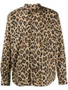 Msgm Leopard Print Shirt - Brown