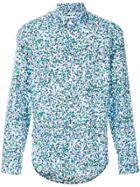 Kenzo Floral Print Shirt - Blue