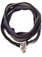 Catherine Michiels Fabric Necklace, Men's, Metallic, Silver