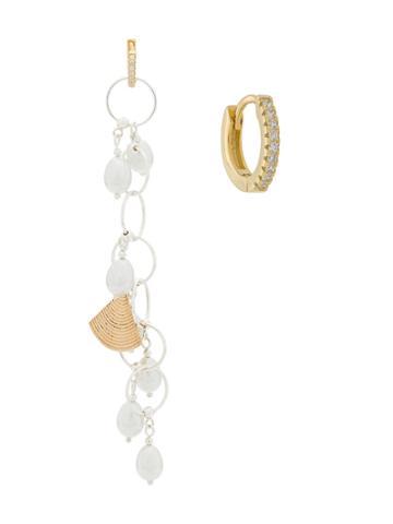 Apples & Figs Pearl Drop Earrings - Silver