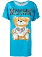 Moschino Teddy Bear Print T-shirt Dress - Blue
