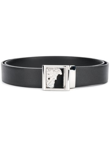 Versace Collection Half Medusa Head Belt - Black