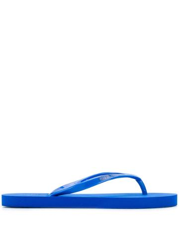 Calvin Klein Logo Flip Flops - Blue