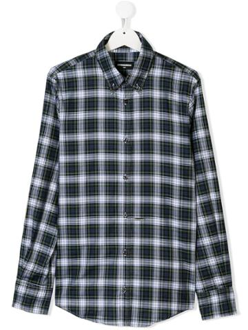 Dsquared2 Kids Checked Button Shirt - Unavailable