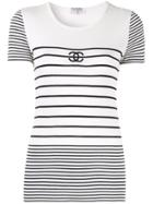 Chanel Pre-owned Border Short Sleeve Top - White