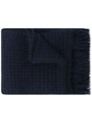 Stella Mccartney - Chunky Knitted Scarf - Men - Polyamide/mohair/wool - One Size, Blue, Polyamide/mohair/wool