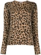 P.a.r.o.s.h. Leopard Print Sweater - Brown