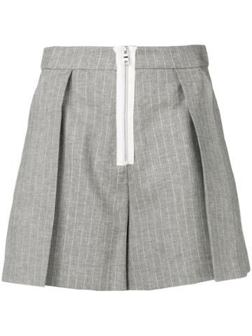 Pinko Pleated Short Shorts - Grey