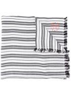 Acne Studios Striped Scarf - Black