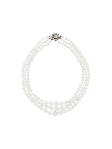 Susan Caplan Vintage 1950's Three-strand Necklace - Silver