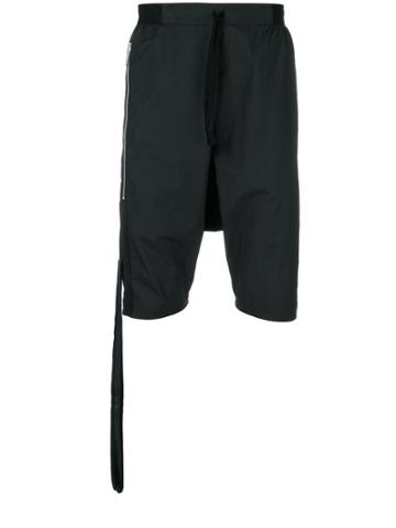Unravel Project Hanging Detail Shorts - Black