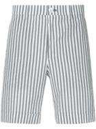 Loveless Pinstripe Chino Shorts - Blue