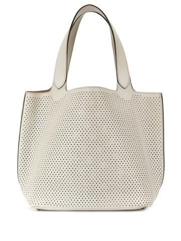 Alaïa Pre-owned Perforated Tote Bag - White