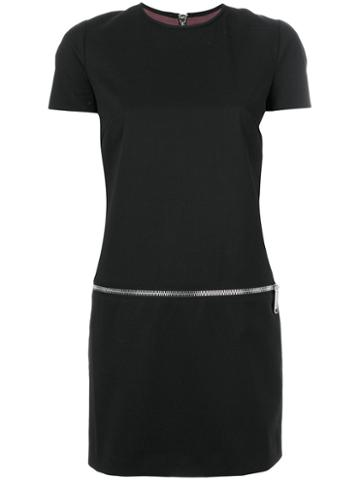 Dsquared2 - Zip Detail Mini Dress - Women - Virgin Wool/spandex/elastane/viscose/polyester - 36, Black, Virgin Wool/spandex/elastane/viscose/polyester