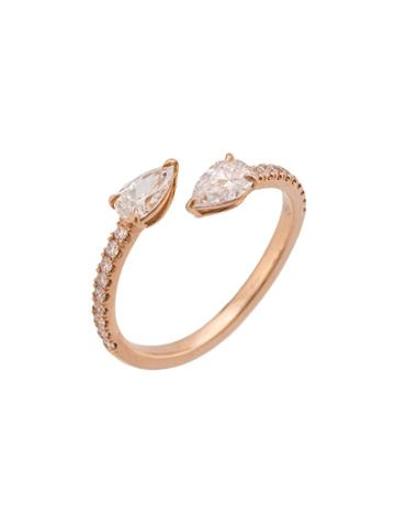 Anita Ko 18kt Rose Gold Two-stone Claw Diamond Ring