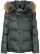 Blauer Padded Jacket With Fur Trimmed Hood - Green
