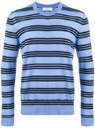 Pringle Of Scotland Striped Pullover - Blue