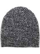 Cashmere In Love Melange Knitted Beanie - Grey