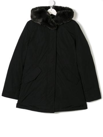 Woolrich Kids Teen Hooded Parka Coat - Black