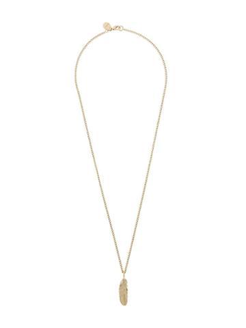 Diesel Feather Pendant Necklace, Men's, Metallic