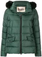 Herno Zipped Up Puffer Jacket - Green
