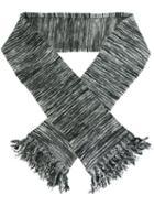 Ymc Striped Tassel Scarf