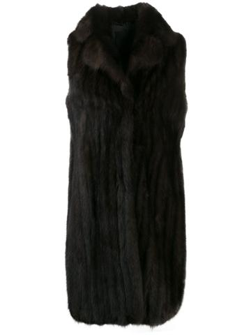 Liska Sleeveless Coat - Brown