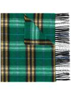Burberry Check Cashmere Scarf - Green