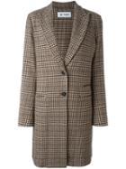 Barena Glencheck Coat, Women's, Size: 42, Brown, Polyamide/wool