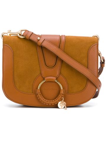 See By Chloé - Hana Cross Body Bag - Women - Cotton/goat Skin/suede - One Size, Brown, Cotton/goat Skin/suede
