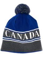 Canada Goose Pompom Beanie - Blue
