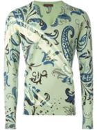 Etro Floral Paisley Print Jumper, Men's, Size: Xl, Green, Cotton