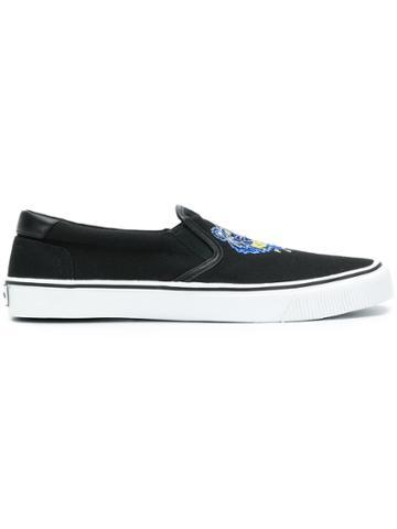 Kenzo Tiger Motif Skate Shoes - Black
