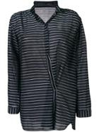 Humanoid Asymmetric Striped Shirt - Blue