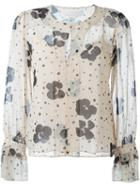 See By Chloé Floral Print Sheer Blouse