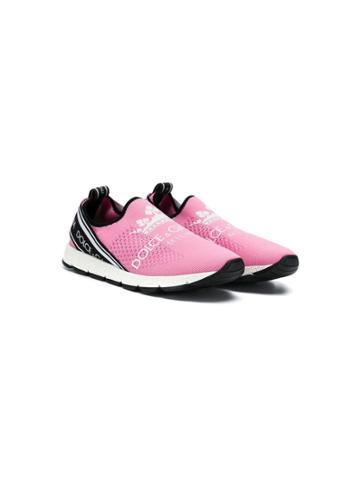 Dolce & Gabbana Kids Teen Logo Print Sneakers - Pink