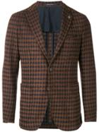 Tagliatore Checked Fitted Blazer - Brown
