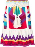 Laneus Colour-block Mini Skirt - White