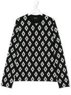 Marcelo Burlon County Of Milan Kids - Teen Sheg Sweatshirt - Kids - Cotton - 14 Yrs, Black