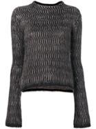 Rick Owens Round Neck Sweater - Black
