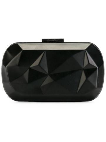 Corto Moltedo Susan Desny Clutch Bag, Women's, Black, Brass/silk Satin
