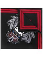 Alexander Mcqueen Skull Badge Print Pocket Square