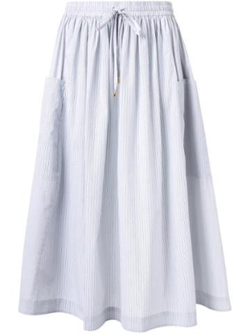 Megan Park Pinstripe Midi Skirt