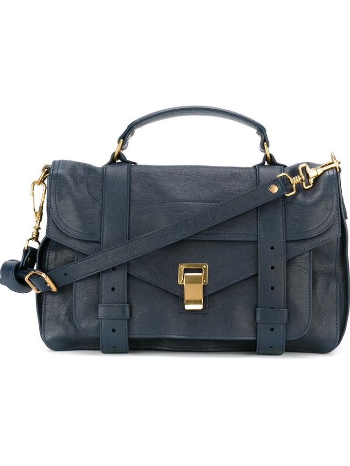 Proenza Schouler Medium 'ps1' Satchel, Women's, Blue, Calf Leather
