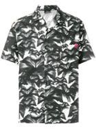 Marcelo Burlon County Of Milan Floral Half Sleeve Shirt - Grey