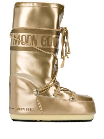 Moon Boot Knee-high Snow Boots - Gold