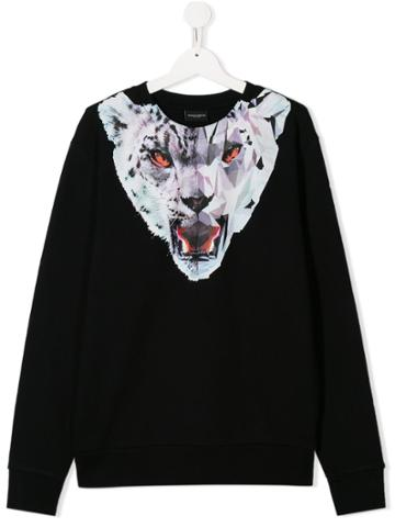 Marcelo Burlon County Of Milan Kids Teen Lynx Print Sweatshirt - Black