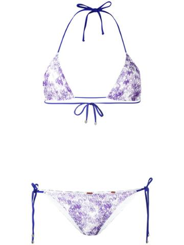 Missoni Tie Dye Lace Bikini, Women's, Size: 40, Pink/purple, Nylon/rayon/spandex/elastane